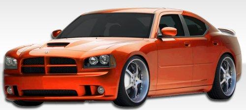 2006-2010 Dodge Charger Duraflex SRT Look Body Kit - 4 Piece - Includes SRT Look Front Bumper Cover (104850) VIP Side Skirts Rocker Panels ( 103331) VIP Rear Lip Under Spoiler Air Dam (103330)