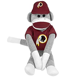 NFL Washington Redskins Uniform Sock Monkey at 'Sock Monkeys'