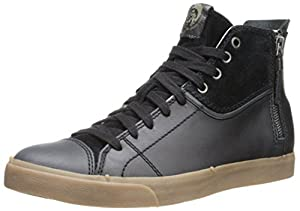Diesel Men's D-Velows D-Zippy Fashion Sneaker, Black, 8 M US