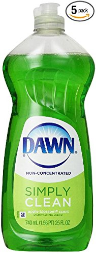 Dawn Dish Soap, Non-Ultra Apple Blossom Scent Dishwashing Liquid 25 Fluid Ounce (Pack of 5) (Apple Dishwashing Detergent compare prices)