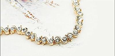 Elegant Bracelet with Swarovski Diamond Crystals in Rose Gold Finish
