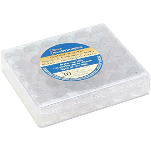 Darice jd bead storage system w 30 containers ebay for Darice jewelry designer bead storage system with 24 containers
