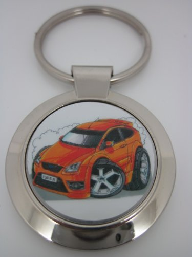 Koolart Ford Focus ST Electric Orange Car Keyring