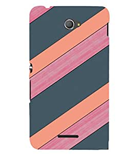 EPICCASE pink and grey Mobile Back Case Cover For Sony Xperia E4 (Designer Case)