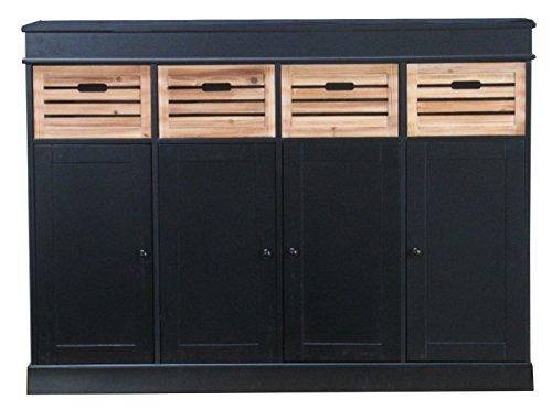 Sideboard-Anne-Highboard-Anrichte-Kommode-Schubladen-Wohnzimmer-Schrank-schwarz