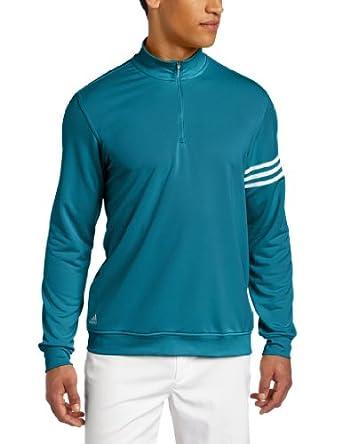 (超帅)阿迪达斯 男子高尔夫三条纹套头衫Adidas Golf  Pullover 海洋色 $27