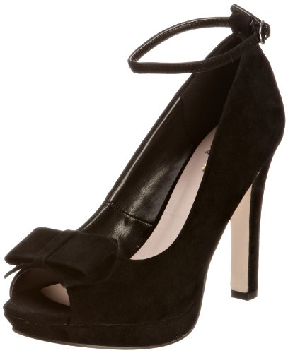 Miss KG Women's Bella M Black Ankle Strap Heels