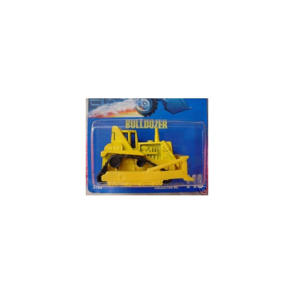 Mattel Hot Wheels 1991 164 Scale Yellow Bulldozer Die Cast Car Collector #146