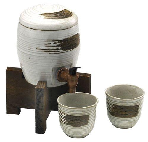 西庵窯 マルチサーバーセット 白釉 161-649