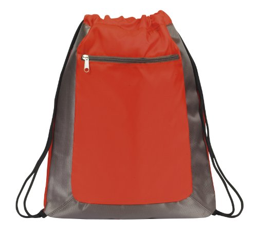 Deluxe Cinch Drawstring Backpack Bookpack Bag, Red by BAGS FOR LESSTM - 1