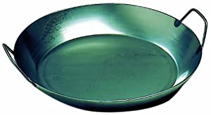 Matfer Bourgeat 062052 Black Steel Paella Pan, 15-3/4 In. Diameter from Matfer Bourgeat