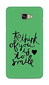 AMEZ to think of you is to smile Back Cover For Samsung Galaxy A9
