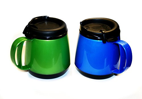 New Two 20oz Foam Insulated Wide Body Thermoserv Mugs
