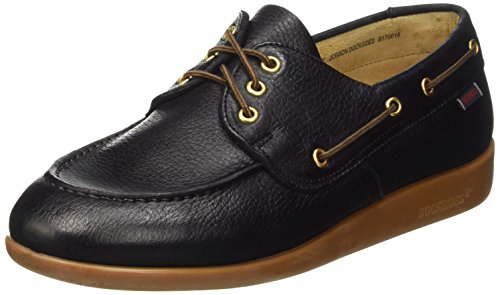 Sebago Gary Jobson Leather Tumbled, Mocassini Uomo, Nero, 43 EU