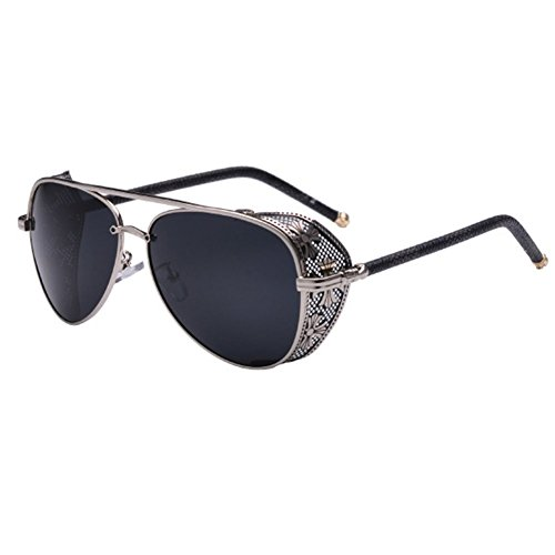 LINXUEFAN-Round-Steampunk-Retro-Sunglasses-Unisex-Sunglasses-Shade