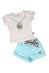 TOFFY HOUSE Off White Girls Set for Kids