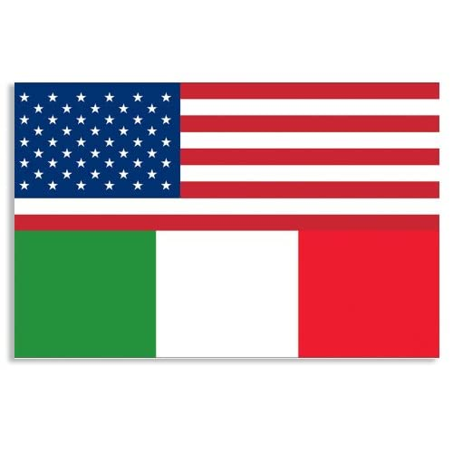 Amazon.com : USA ITALY Flags Sticker (Italian American) : Other