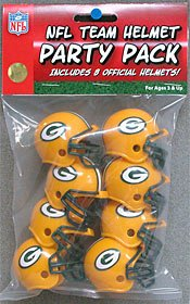 Riddell 9585533012 Green Bay Packers Team Helmet Party Pack