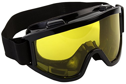 7Trees Foam Padded Bike Glasses with Yellow Tinted Lens, 1 Piece