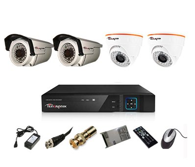 Tentronix-T-4ACH-4-DBA10-2(1MP/36IR)-Dome,-2(1MP/36IR)-Bullet-Cameras-(With-Accessories)