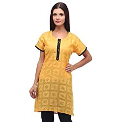 Lady in Red Jacaqurad Kurti (Size- S)