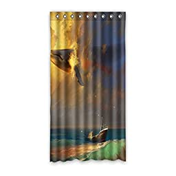 Whale Design House Custom Decors Polyester Blackout Window Curtains 50\