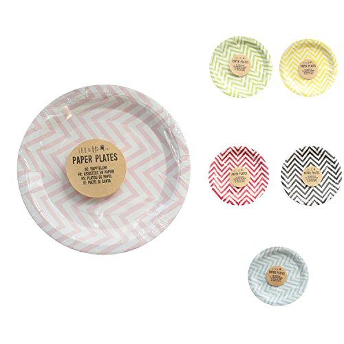 papier-assiettes-party-chevron-rose-5-pack-60-plaques