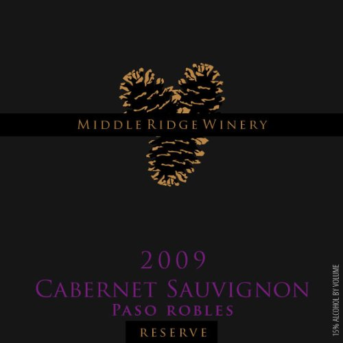 2009 Middle Ridge Winery Reserve Cabernet Sauvignon Paso Robles 750 Ml