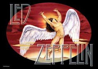 Heart Rock Licensed Bandiera Led Zeppelin - Icarus, Tessuto, Multicolore, 110X75X0,1 cm