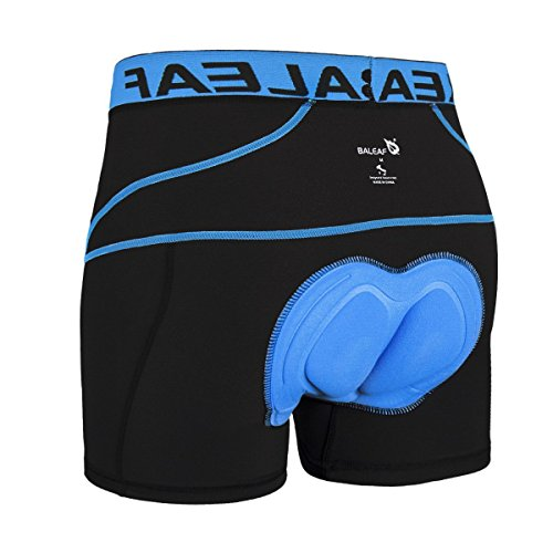 Baleaf Men's 3D Padded Bike Bicycle MTB Cycling Underwear Shorts (Blue, M) (Man Cycling Clothes compare prices)