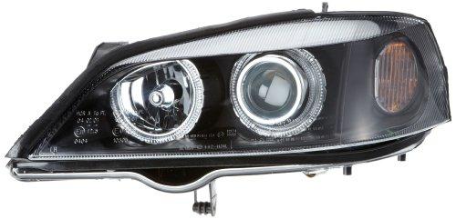 Faros delanteros Angel Eyes Set Opel Astra modelo G 98-03 negro [Meccanico]