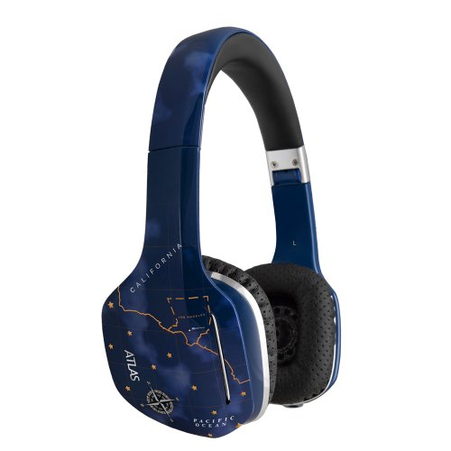 Meelectronics Atlas Sky Iml Graphics On-Ear Headphones With Headset Functionality
