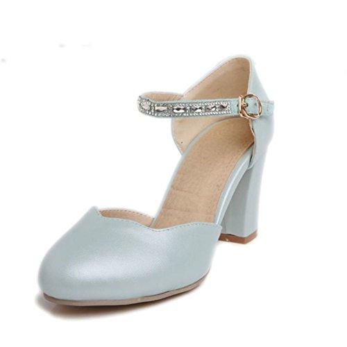 Diamond head light grezzo con scarpe da donna/ fibbia scarpe-A Lunghezza piede=24.3CM(9.6Inch)