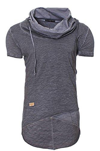 Redbridge-Herren-Swag-Oversize-T-shirt-Mens-Shirt-M1022-anthrazit-L