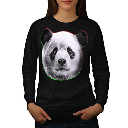 cracked-wood-panda-timber-style-women-new-black-xl-sweatshirt-wellcoda
