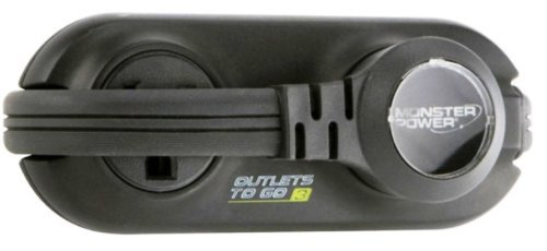Monster MP OTG400 BK Outlets To Go 4 Outlet Travel Power Strip (Black)