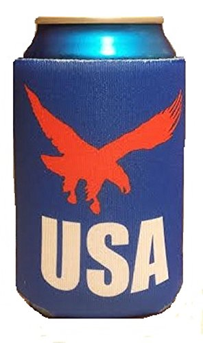 Patriotic USA Can Cooler - Soaring Eagle - Collapsible Foam Beer Can Cooler (Foam Can Coozie compare prices)