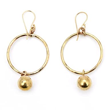 Brass Chime Hoop Earrings||RF10F