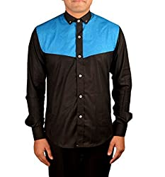 Riverbero Men's Casual Shirt (SN_DFS_214_Black_42)