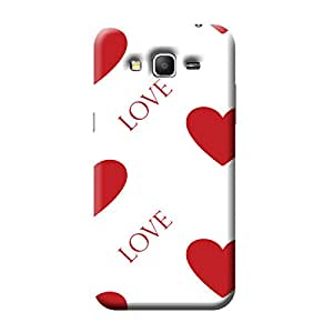 Garmor Heart Shape Design Plastic Back Cover For Samsung Galaxy Grand Prime SM-G530 (Heart Shape - 2)