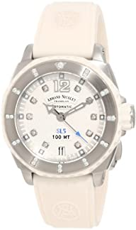 Armand Nicolet Women's 9613C-AG-G9615B SL5 Sporty Automatic Stainless Steel With Diamonds Watch