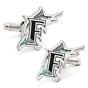 Officially Licensed MLB Baseball Cufflinks by Brookstone