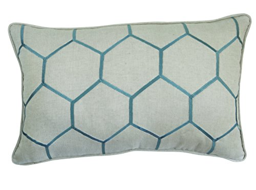 Split P Embroidered Honeycomb Pillow Home Garden Decor