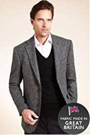 Big & Tall Pure Wool Herringbone Jacket