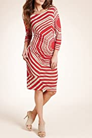 Autograph Graphic Striped Jersey Dress [T50-2366-S]