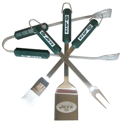 NFL New York Jets 4-Piece Barbecue Set at Amazon.com