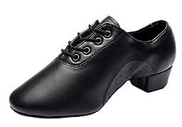 Bininbox Newest Brand Men\'s Breathable Ballroom Latin Tango Salsa Dance Shoes (9.5 B(M) US)