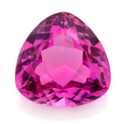16.35cts Trillion cut 15mm Pink Sapphire Corundum Gemstone VVS Grade Stunning