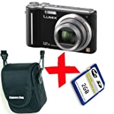 Panasonic TZ6 Black Digital Camera 10MP 12xZoom +Soft Case +2GB SD Bundleby Panasonic