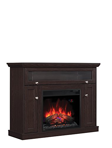windsor tv stand for tvs up to 50 inch with 23 inch electric fireplace ebay. Black Bedroom Furniture Sets. Home Design Ideas